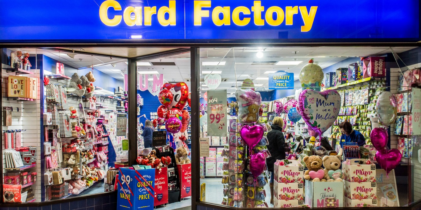 Card Factory at St Johns Shopping Centre